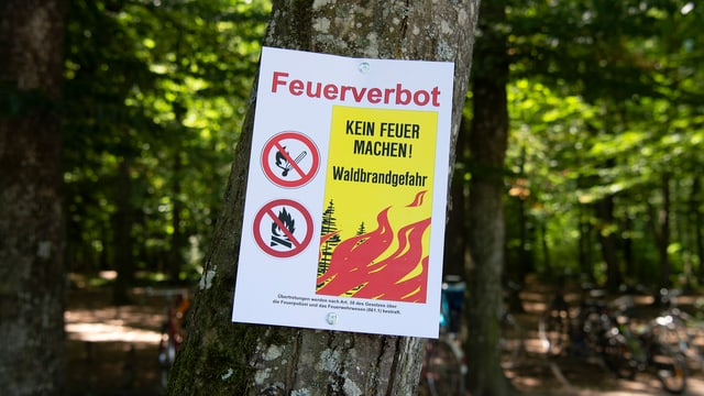 Plakat mit Feuerverbot