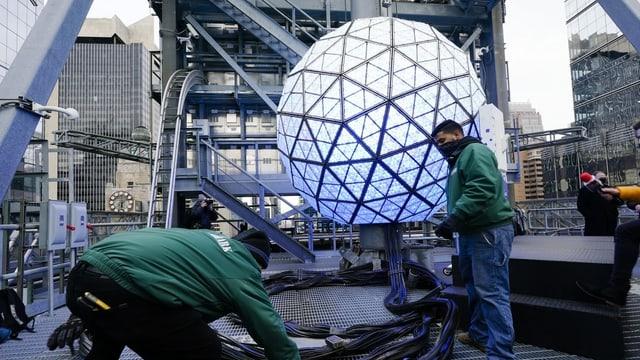New York am Tag davor: Letzte Vorbereitungen für den jährlichen «Ball Drop» am Times Square.