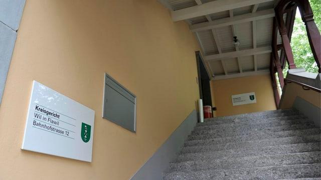 Eingang Kreisgericht Wil