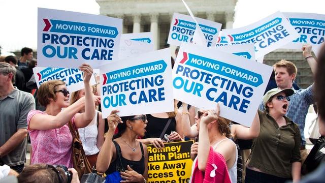 Protestas per Obamacare l'onn 2012.
