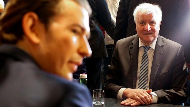 Seehofer und Kurz beim Treffen vom 5. Juli in Wien.