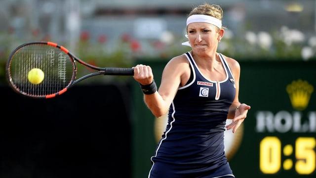 Für Timea Bacsinszky beginnt das 2. Grand-Slam-Turnier des Jahres am Dienstag.