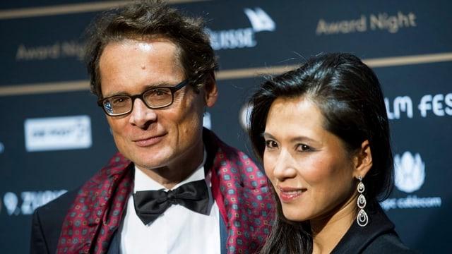 Roger Köppel mit seiner Ehefrau Tien am Zurich Film Festival.