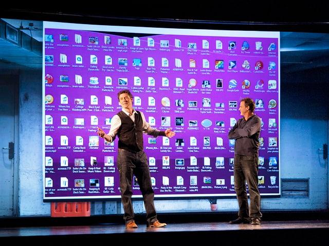 Duo Edelmais auf der Bühne