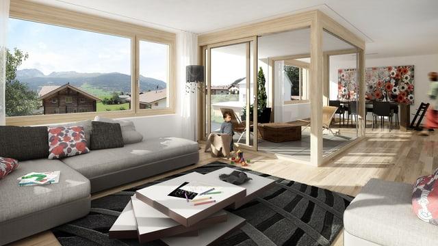 Visualisaziun abitaziun nova a Lantsch.