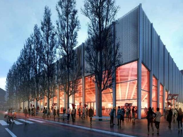 Visualisierung der neuen Eishalle