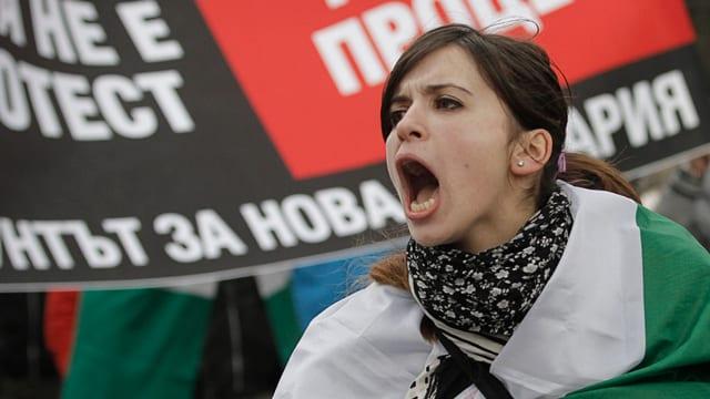 Wütende Bulgarin