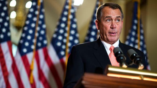 John Boehner, der Verhandlungsführer der Republikaner, bei einer Medienkonferenz.