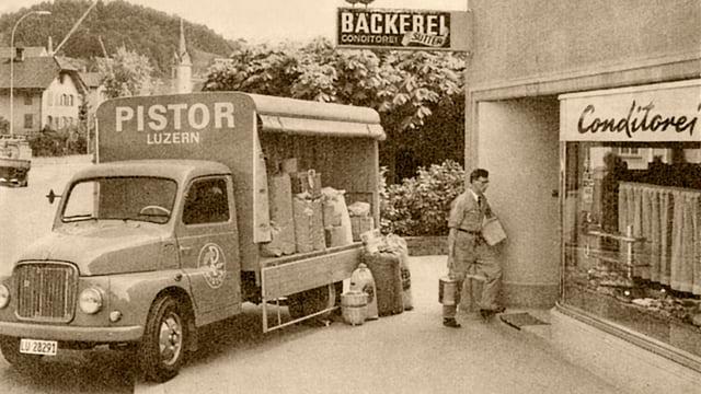 Historisches Bild eines Pistor-Lieferanten