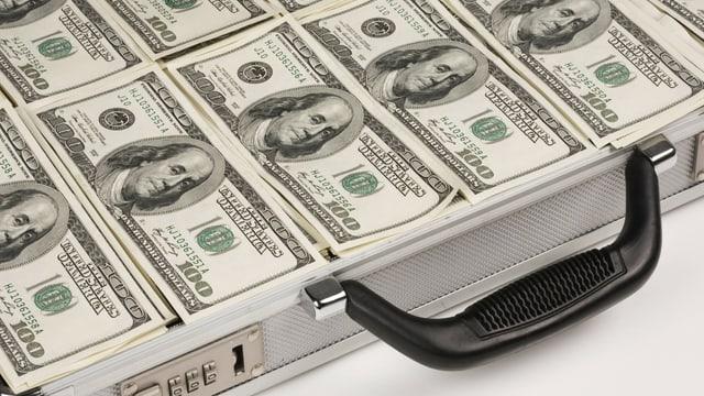 Symbolbild: Ein Koffer voller Dollarnoten.
