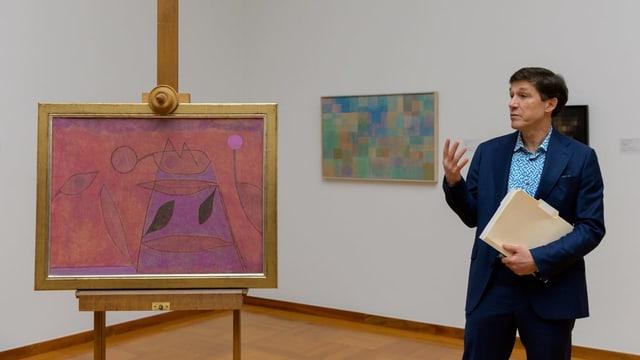 Josef Helfenstein präsentiert OHNE TITEL von Paul Klee.