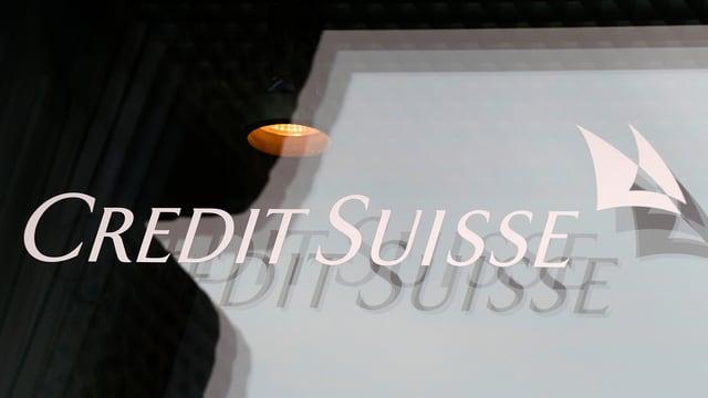 Schriftzug Credit Suisse mit dem Logo