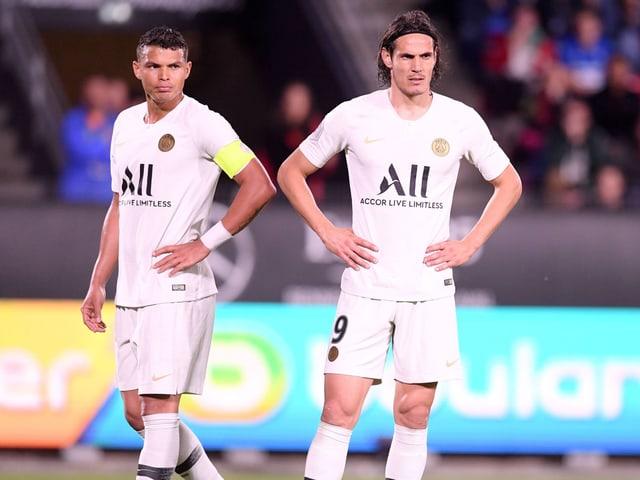 Thiago Silva und Edinson Cavani sind bedient.