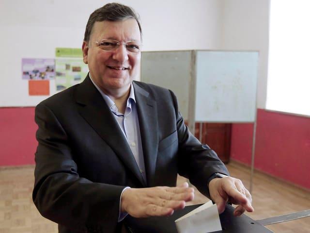 José Manuel Barroso bei der Stimmabgabe.