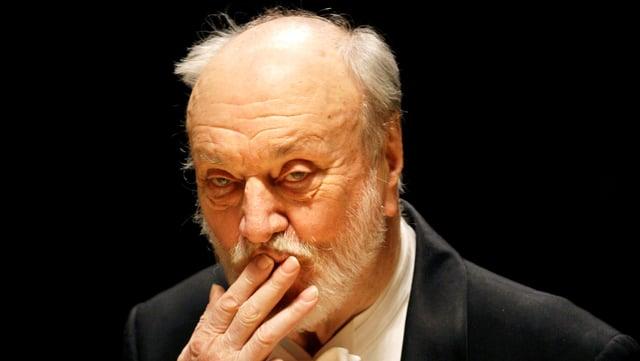 Der deutsche Dirigent Kurt Masur.