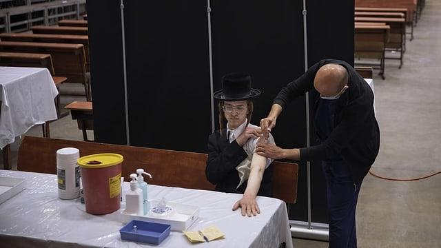 Mensch wird geimpft