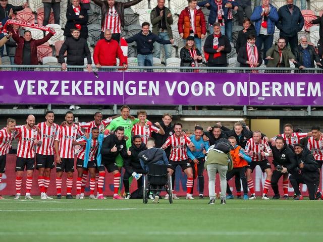Spieler und Fans von Sparta Rotterdam