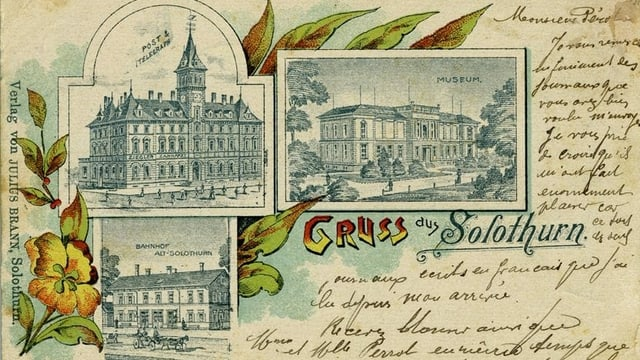 Carta postala da Soloturn dal 1901