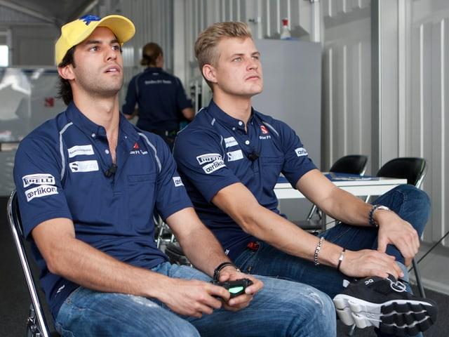 Das Sauber-Duo Felipe Nasr und Marcus Ericsson.