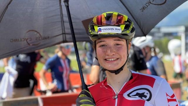 Lorena Cadalbert è cuntenta cun sia prestaziun a Val di Sole