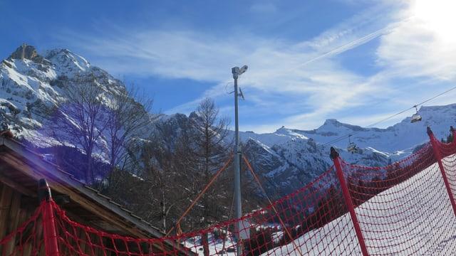 Automatische Kamera, Pistennetz, Berge.