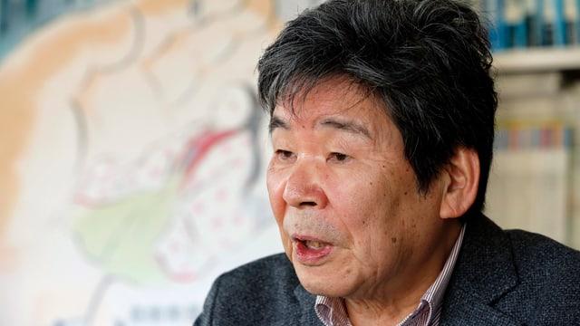 Isao Takahata in seinem Büro bei Studio Ghibli, 2015.
