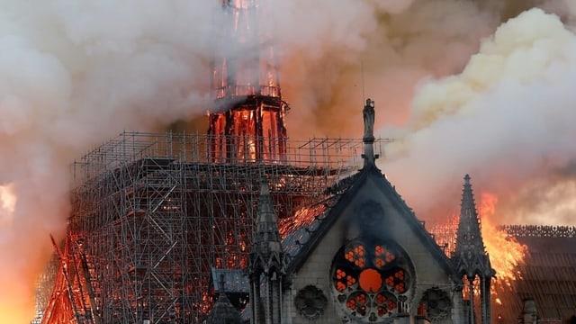 Brennende Notre Dame