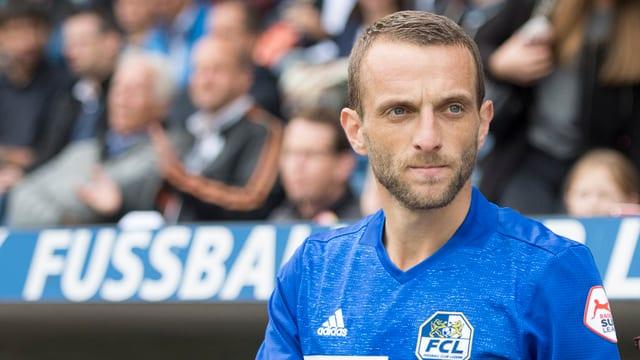 Porträt von FCL-Mittelfeldspieler Christian Schneuwly.