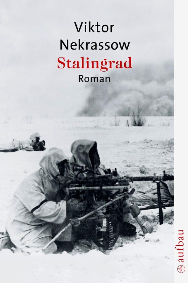 Buchcover (Ausschnitt): Zwei Soldaten knien mit Gewehren am Boden, oben der Titel des Buches.