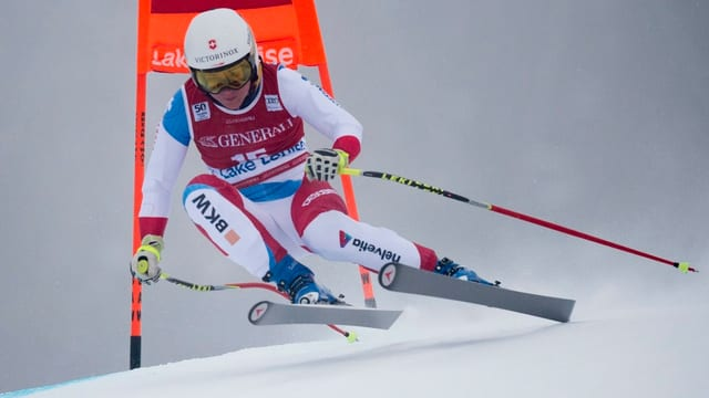 La skiunza Fabienne Suter en acziun.