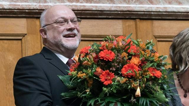 Ruedi Lustenberger am 25. November 2013 nach seiner Wahl zum Nationalratspräsidenten.
