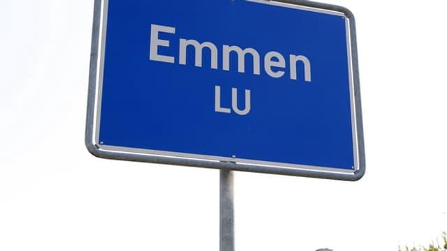 Ortstafel von Emmen.