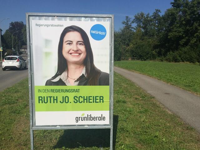 Wahlplakat von Ruth Jo Scheier.