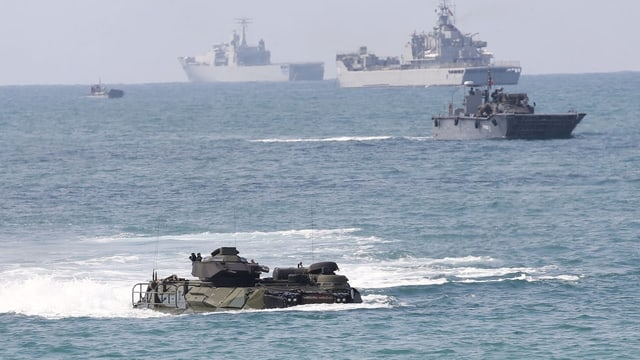 Im Februar 2019 führten die USA mit der thailändischen Marine die Amphibien-Übung «Cobra Gold» durch.