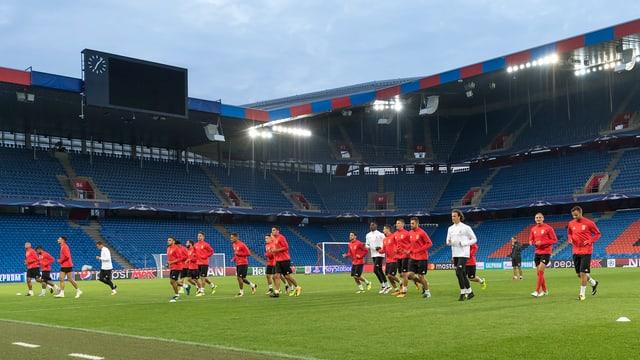 FC Basilea vid il trenament