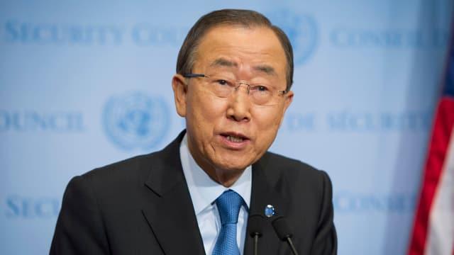 Ban Ki Moon spricht.