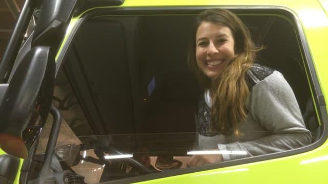 Dominique Gisin al timun dal auto da pumpiers.