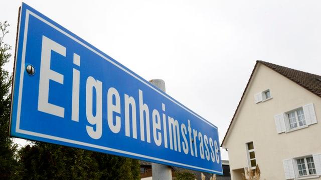Strassenschild Eigenheimstrasse
