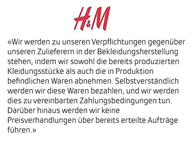 Antwort H&M