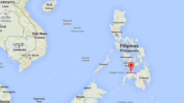 Karte der Philippinen.