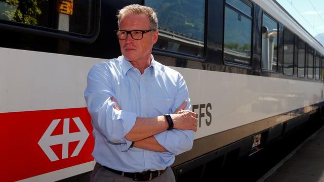 Il CEO da las Viafiers federalas, Andreas Meyer.