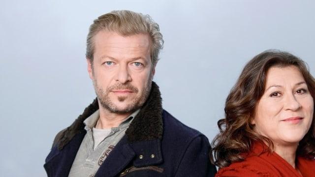 Roland Koch mit seiner Konstanzer Tatort-Kollegin Eva Mattes.