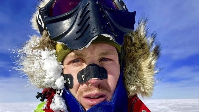 Selfie von Colin O'Brady während seiner Reise