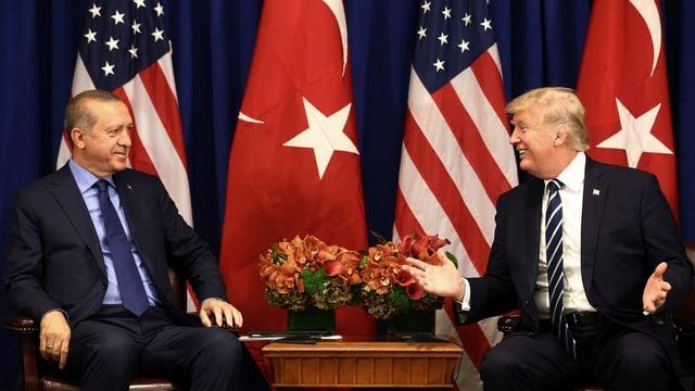 Il president da la Tirchia, Recep Tayyip Erdogan, ed il president american, Donald Trump.