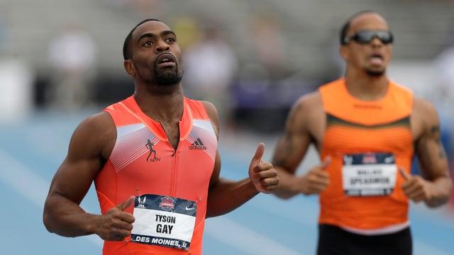 Tyson Gay überzeugte auch über 200 m.