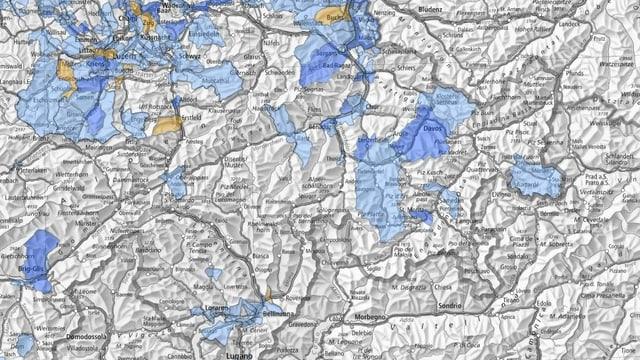 Karte von graubünden