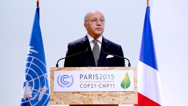 Il minister da l'exteriur franzos Laurent Fabius.