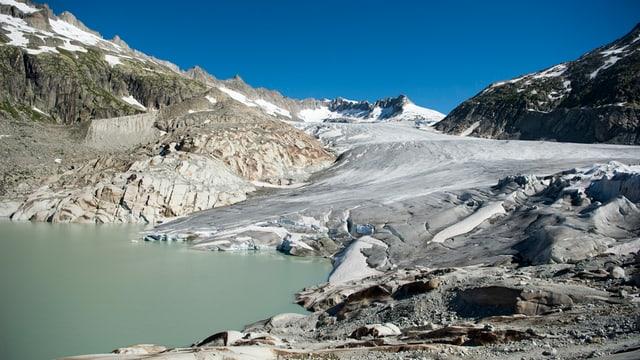 Il Glatscher dal Rodan sur Gletsch al pass dal Furca.
