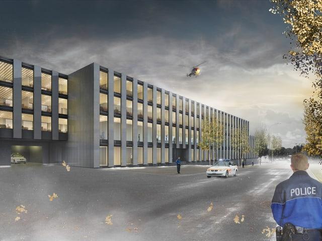 Neubau für Kantonspolizei als Projektbild