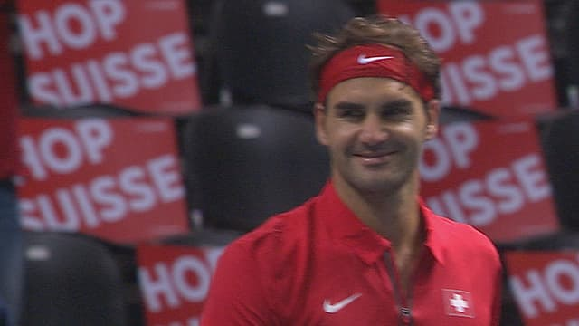 Federer lacht